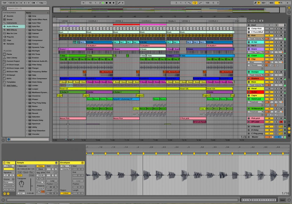 Making music and producing in Ableton