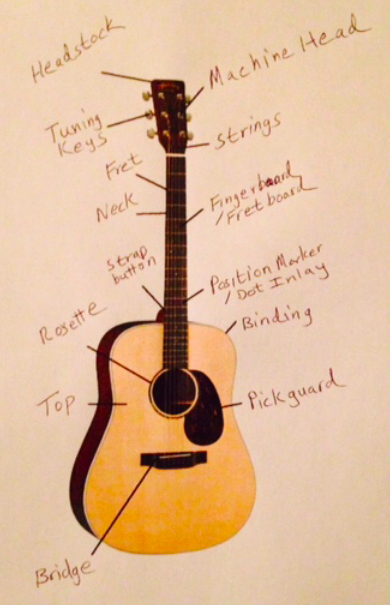 Anatomy of an acoustic guitar