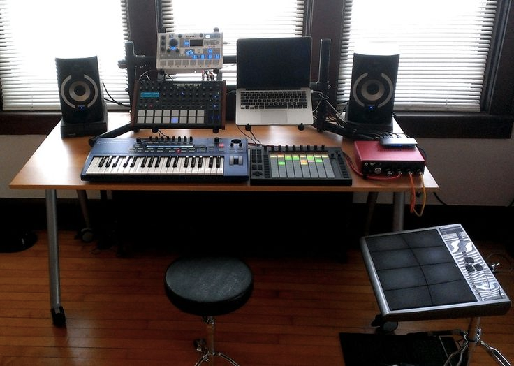 Simple music studio desk