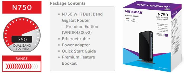 NETGEAR N750 Dual WNDR4300 Package Contents
