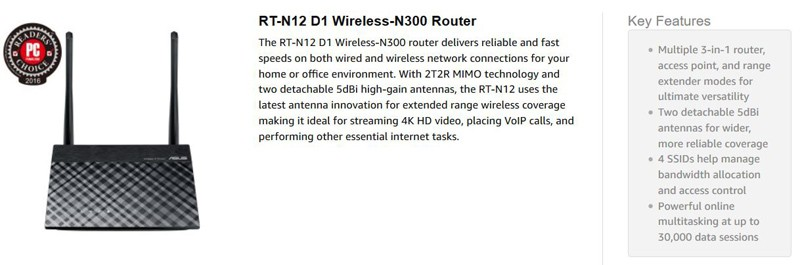 ASUS RT-N12 3-In-1 Wireless Router