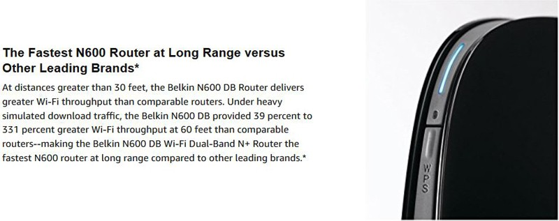 Belkin F9K1102 N600 Wireless Dual-Band N+ Router Range