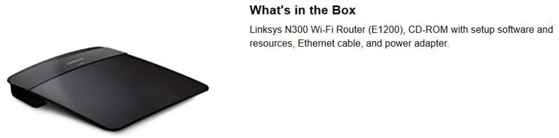 Whats In The E1200 Router Box