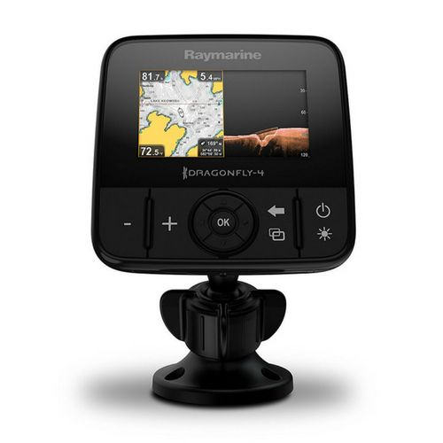 Raymarine Dragonfly Pro CHIRP Fish Finder with built in GPS and WiFi with Navionics