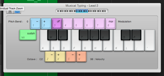 Using keyboard as a MIDI keyboard on Logic Pro X