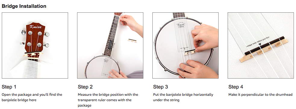 Where to put the bridge on a banjolele