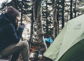 Making coffee in a campsite